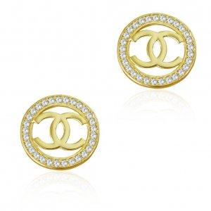 Στρογγυλά σκουλαρίκια γνωστού οίκου μόδας
