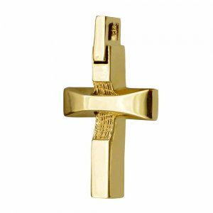 ανδρικός-μοντέρνος-σταυρός-βάπτισης 14Κ
