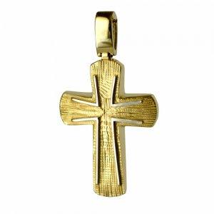 Βαπτιστικός γραμμωτός σταυρός 14Κ