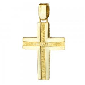 Σταυρός με τον Εσταυρωμένο χρυσός 14Κ