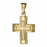 Χρυσός διακριτικός ανδρικός σταυρός 14 καρατίων