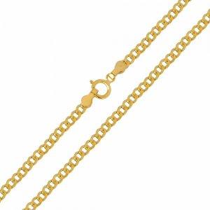 Αλυσίδα λαιμού κλασική, σε σχέδιο γκουρμέ, από χρυσό 14Κ σε λουστρέ φινίρισμα. Μία εξαιρετική επιλογή για ανδρικό σταυρό ή κόσμημα.