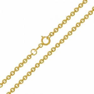 Αλυσίδα λαιμού χρυσή απλή , σε σχέδιο κρίκο - κρίκο (φορτσατίνα), από χρυσό 14Κ σε λουστρέ φινίρισμα. Αλυσίδα πλεγμένη με στρογγυλούς κρίκους σε αραιή πλέξη. Μία εξαιρετική κλασική επιλογή για ανδρικό και γυναικείο κόσμημα ή σταυρό.
