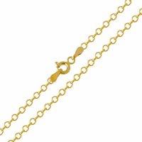 Αλυσίδα για τον λαιμό οικονομική , σε σχέδιο κρίκο - κρίκο (φορτσατίνα), από χρυσό 14Κ σε λουστρέ φινίρισμα. Αλυσίδα πλεγμένη με στρογγυλούς κρίκους σε αραιή πλέξη. Μία εξαιρετική κλασική επιλογή για ανδρικό και γυναικείο κόσμημα ή σταυρό.