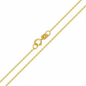 Αλυσίδα για τον λαιμό λεπτή , σε σχέδιο κρίκο - κρίκο, από χρυσό 14Κ σε λουστρέ φινίρισμα. Αλυσίδα πλεγμένη με οβάλ κρίκους σε αραιή πλέξη. Αποτελεί ιδανική επιλογή για διακριτικό γυναικείο μενταγιόν.