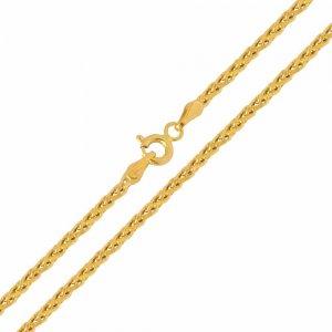 Αλυσίδα λαιμού χρυσή σπίγκα 14Κ με λουστρέ φινίρισμα σε ιδιαίτερο σχέδιο με πυκνή πλέξη. Μία εξαιρετική κλασική επιλογή για ανδρικό και γυναικείο κόσμημα ή σταυρό.