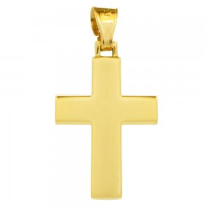 Απλός σταυρός για αγόρι βαπτιστικός, σε λιτή γαμμή από χρυσό 14 καρατίων με λείο λουστρέ φινίρισμα. Συνδυάστε τον με τις προτεινόμενες αλυσίδες.