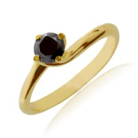 Δαχτυλίδι μονόπετρο από χρυσό 14Κ σε σχέδιο φλόγα διακοσμημένο με μια εντυπωσιακή πέτρα ζιργκόν. Είναι δεμένο σε βάση περιστρεφόμενη με 4 στηρίγματα που αγκαλιάζουν και αναδεικνύουν υπέροχα την πέτρα.
