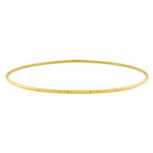 Βραχιόλι βέργα ασημένια 925, επιχρυσωμένη. Έχει ανάγλυφο σαγρέ φινίρισμα και διάμετρο 7 cm. Φορέστε πολλές βέργες μαζί και εντυπωσιάστε!